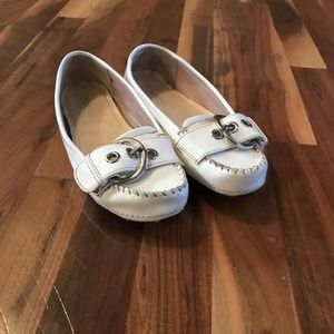 Girl's Size 3.5 white patent leather flats
